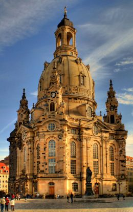 Restored Frauenkirche in Dresden