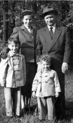 Paul Wener and family 1956