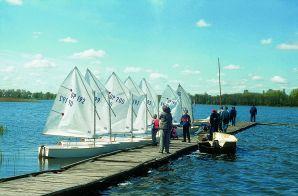 Sailboats at the Boat dock