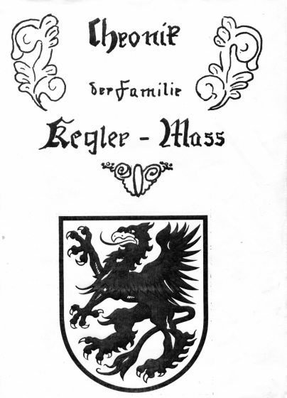 Title Page of Kegler-Mass Family Chronicle