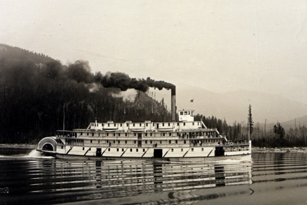 SS Bonnington at Full Steam on the Arrow Lakes