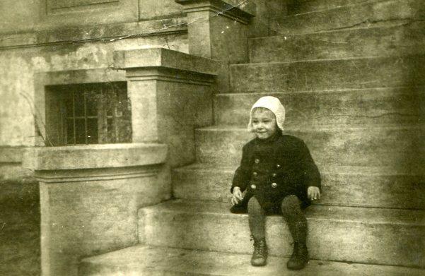 Peter Sitting on Gutfelde Staircase