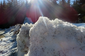 Sparkling Snow Mounds
