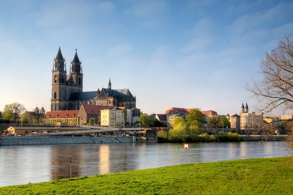 Magdeburg on the Elbe River
