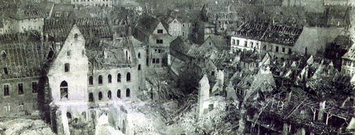 Erfurt after a Bombing Raid