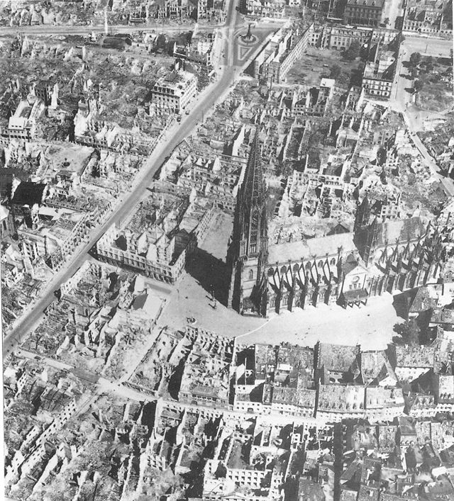 Freiburg City Center 1944 - Photo Credit: City Archive