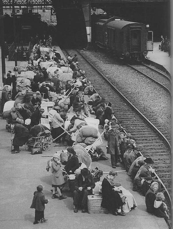 Refugees Waiting for the Last Train at Breslau