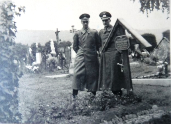 My Uncles Günther and Gerhard Kegler at the Grave of their Brother in 1940