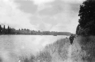 Barge: Rhein bei Sasbach