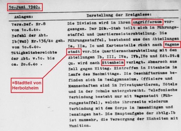 Befehl Angriffsraum 10.6.1940