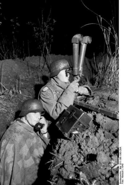 Russland, Artillerie-Beobachtung