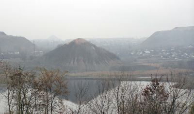 Coal-mining Spoil Tips along the Kalmius River