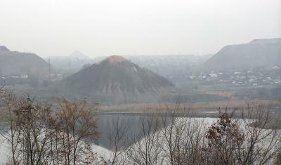 Coal-mining Spoil Tips along the Kalmius River