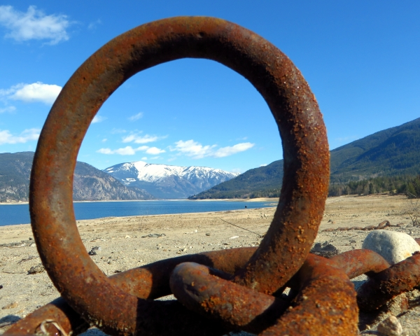 Unusual Lake View through an Iron Ring