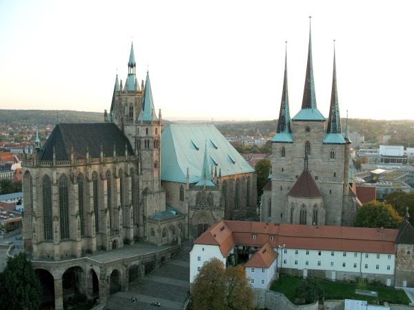 Erfurt Cathedral and Severi Church - Photo Credit: Wikipedia.org