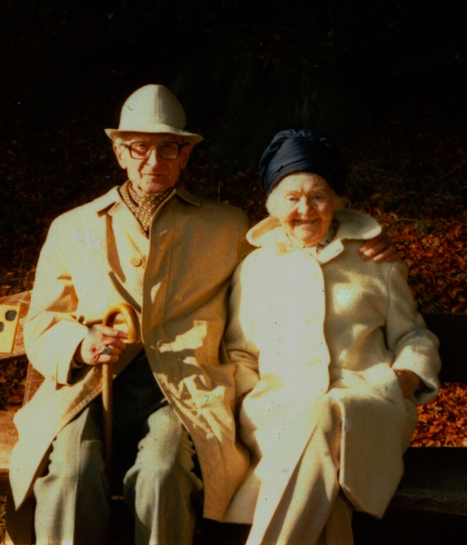 Uncle Günther and Aunt Friedel in Kassel-Wilhelmshöhe in 1984