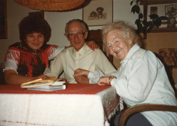 My brother Adolf and his wife Mary visiting the Keglers in Germany