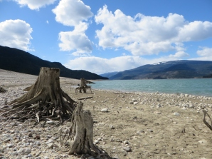 Lake at its Lowest Level before Spring Run-off