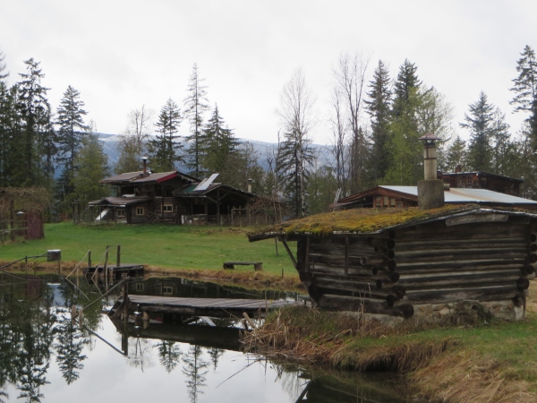 The Mead-Eichenauer Property with Sauna and Pond in the Foreground
