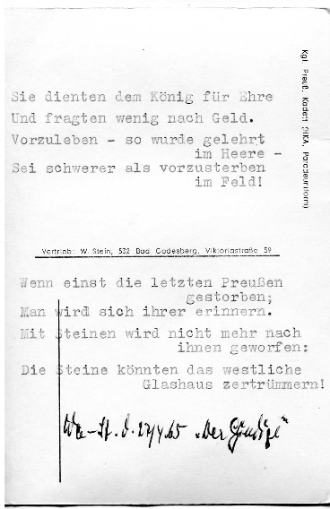 Prussian Cadet Text