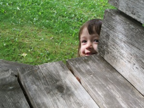 Emeline playing Peekaboo