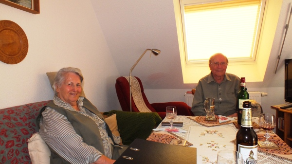 Hartmut and Gisela in their Cozy Livingroom