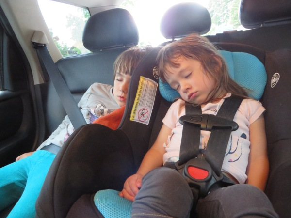 Azure and Emeline Sound Asleep upon Arrival in Fauquier