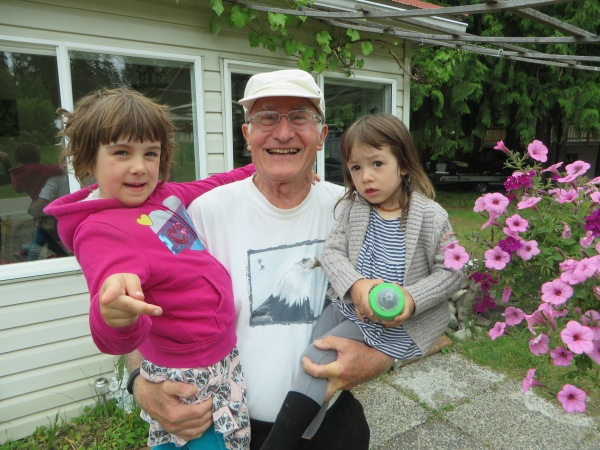 Peter and his two Granddaughters