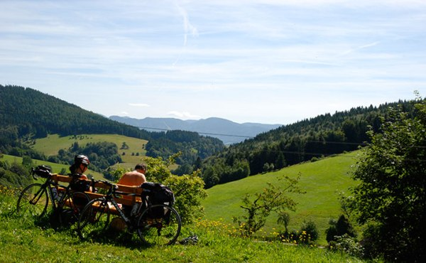 Blackforest with Mountain Bikers - Photo Credit: breisgau-schwarzwald.de