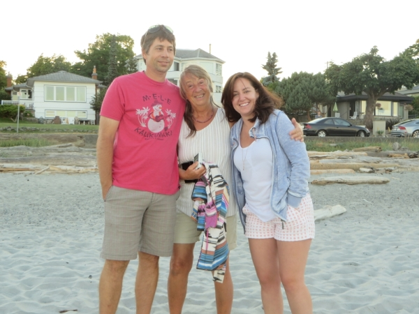 Tony, Biene and Lisa on our first Evening Stroll