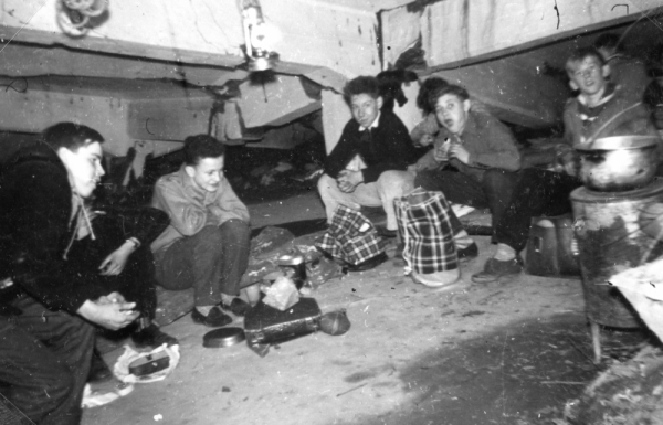 Peter's Clan Relaxing in a WW2 Bunker