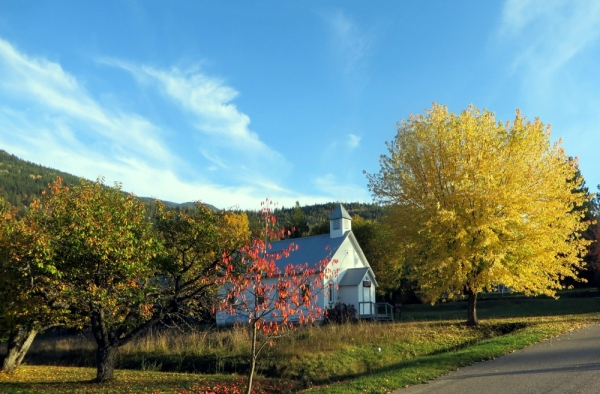 Our Little Village Church on a Beautiful Fall Day