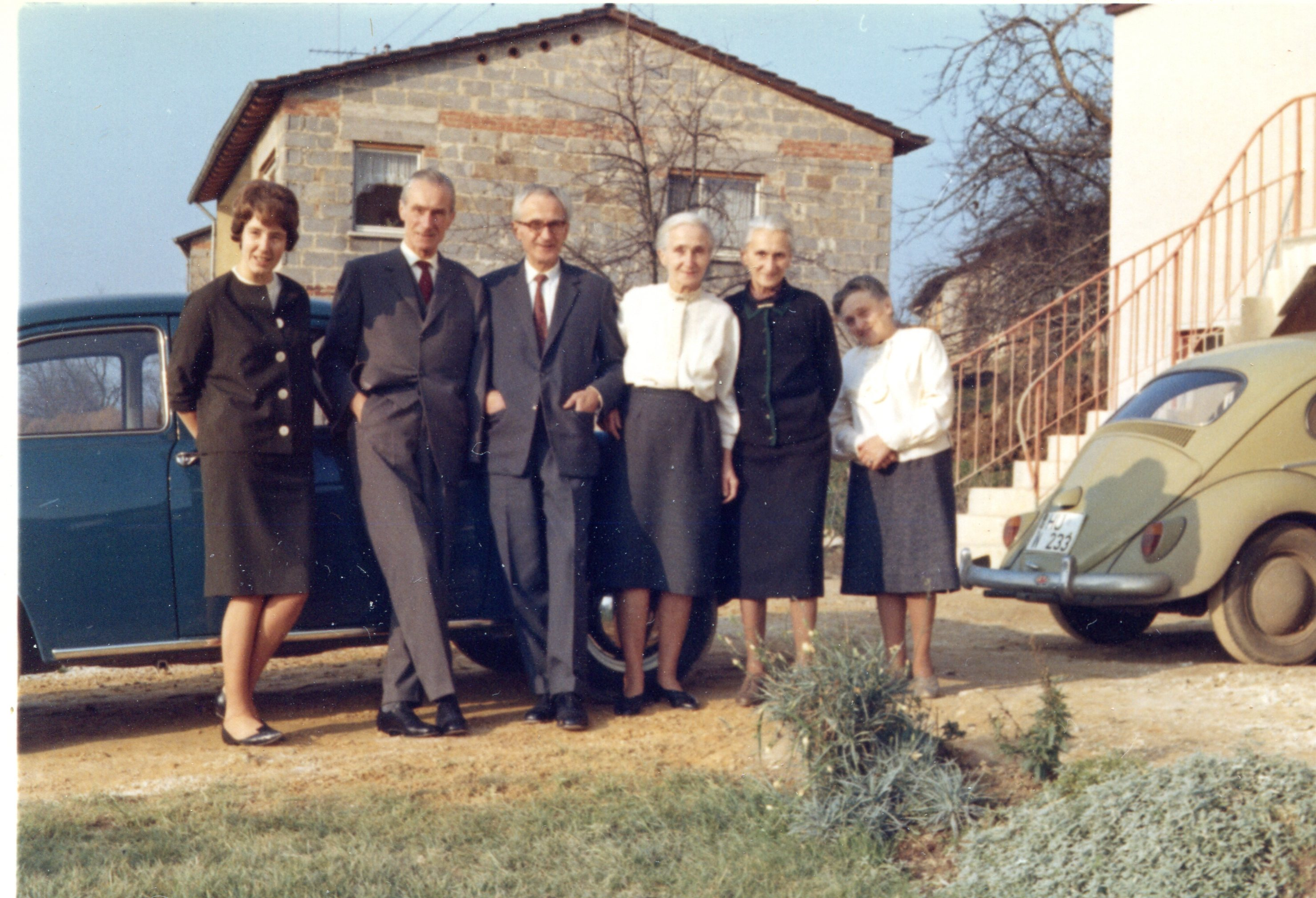 The Kegler Family with Gerhard and his daughter Helga on the left