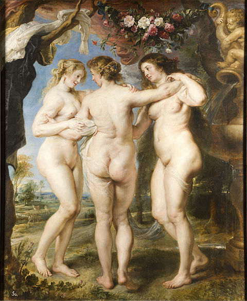 The Three Graces by Peter Paul Rubens - Prado Museum Madrid