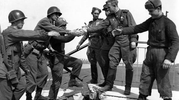 American and Soviet Forces Meet at Torgau April 1945 - Photo Credit: dw.com