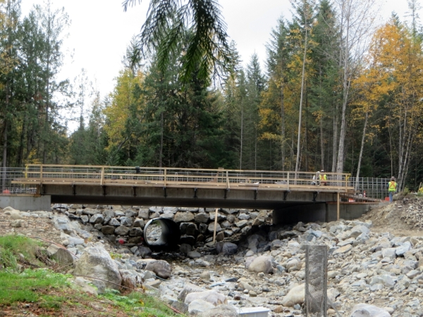 Bridge Replacing the Culvert almost Complete