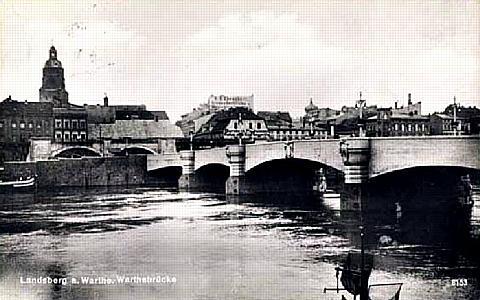 The Warthe Bridge at Landsberg