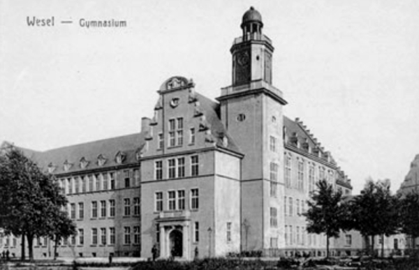 Our High School in Wesel built in 1912 - Now Court House Building