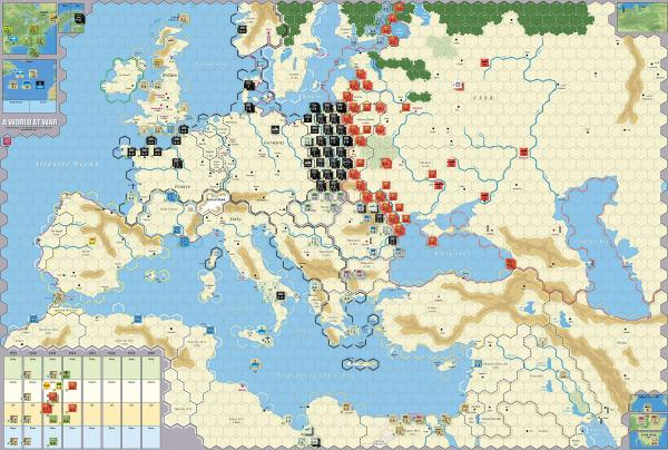 Typical Commercial WW2 Board Game - Photo Credit: warplanner.com