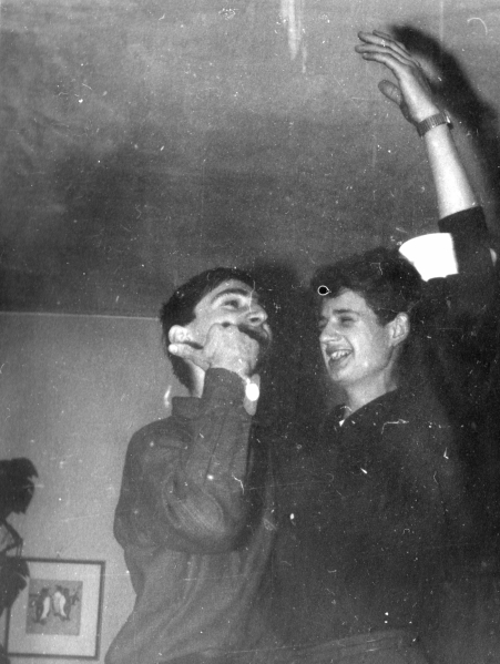 Rainer and Peter Singing a Duette