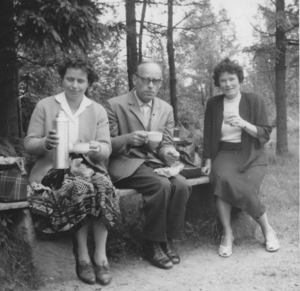 Onkel Hans zu Besuch in Gotha 1960