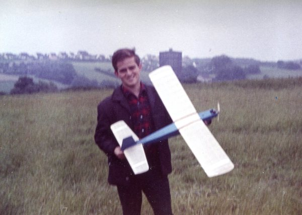 Twin Brother Walter with one of his Model Airplanes