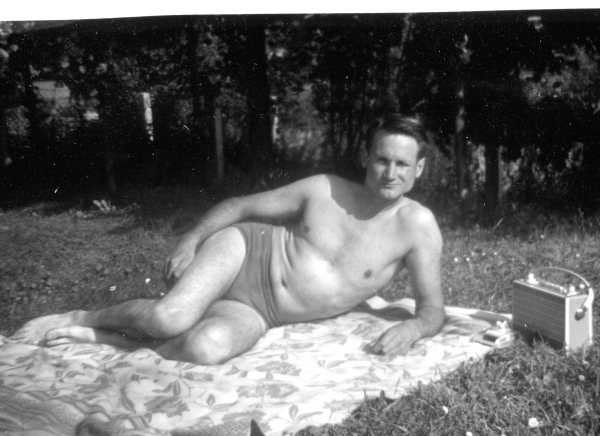 My brother Adolf relaxing at the Schotten Swimming Pool