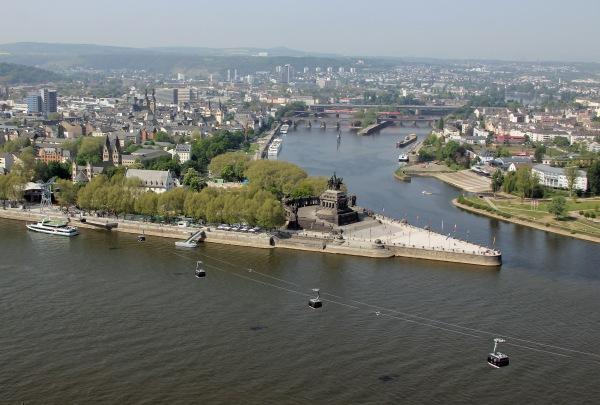 German Corner (Deutsches Eck) Koblenz - Photo Credit: wikipedia.org