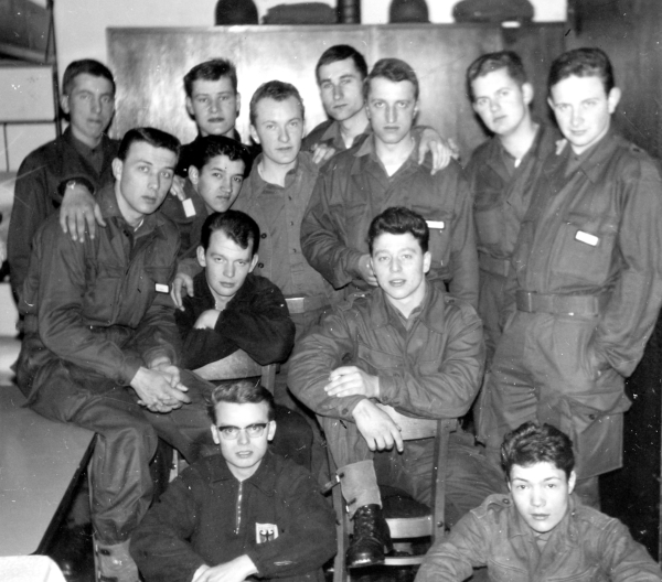 Army Buddies of Room 203 - Peter at Center Back (1963)