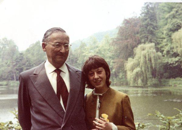 Gertrud (Biene) with Papa Panknin in the Gruga Park