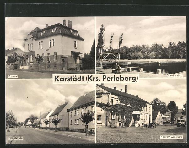 AK-Karstaedt-Postamt-Konsum-Gaststaette-Schwimmbad