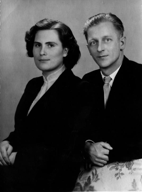 Elisabeth und Eberhard Trampenau am Tag ihrer Hochzeit