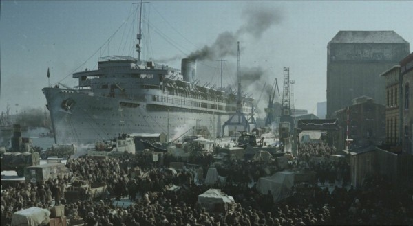 Boarding the Wilhelm Gustloff January 1945 - Photo Credit: renagadetribune.com