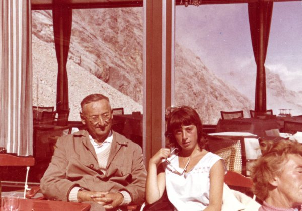 Biene and her father on the Zugspitze 1963
